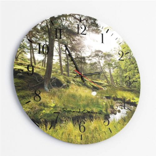 Marshaw Wyre, Trough of Bowland - Round Glass Clock